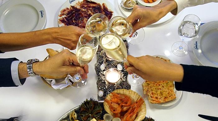 Cena de grupo Navidad